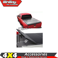 Hot 2012-2015 Solid Aluminum Pickup Truck Hard Tri Folding Tonneau Cover for D-max