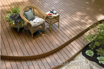 wood plastic composite decking/ no water absorption, no rot, no fading outdoor wpc decking
