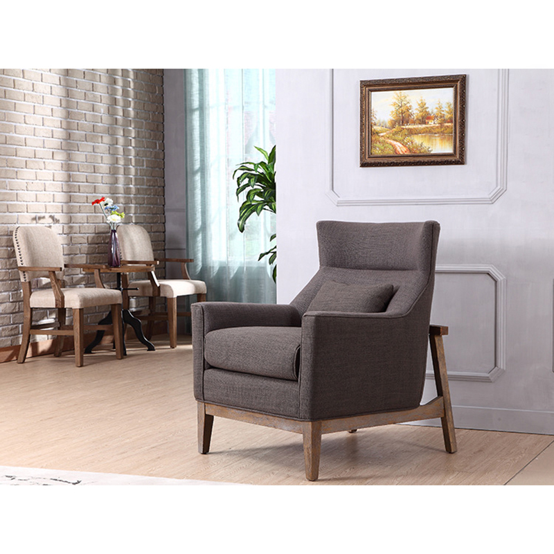 5pcs Luxury fabric cover king throne wooden single sex sofa chairs resting chair