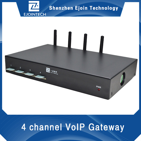Ejoin solution for company internal communication calling and SMS 4 port 4 sim voip gateway compatible with IPPBX