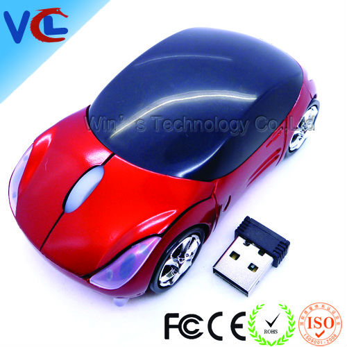 Wireless Optical Car gift Mouse 1600dpi 3D USB 2.4G Laptop
