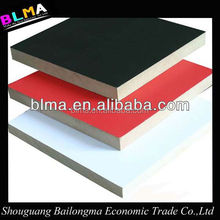 fireproof high quality HPL faced MDF or particle board