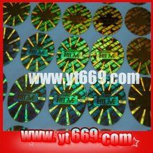 Hot glitter custom adhesive holographic security label