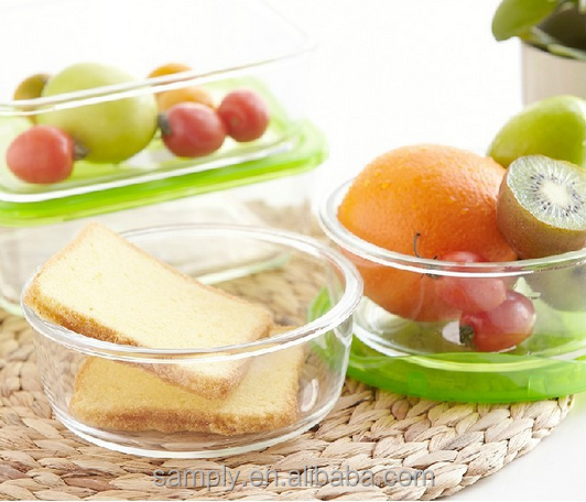 Hot Sell microwave glass container food With ISO9001 Certificate