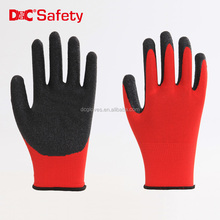 13 gauge polyester liner palm coating crinkle wholesale work gloves latex,hand gloves work