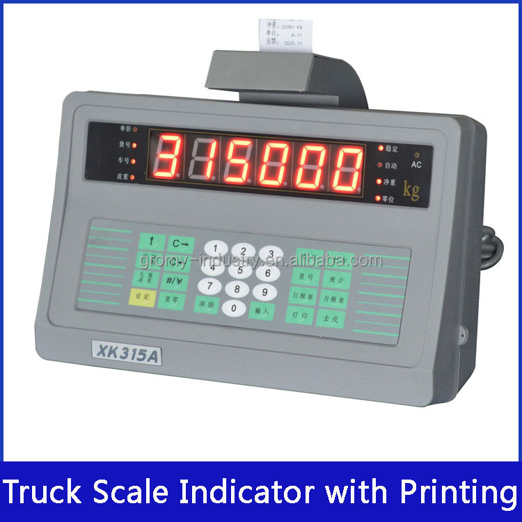 Truck Scale Digital Weighing Indicator with Built-in Printer XK315A6P