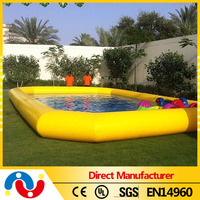 Top sale high quality swimming pool inflatable pool wave machine square swimming pool