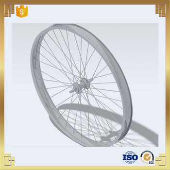"16"" aluminum rear wheel rim with 36 spokes"