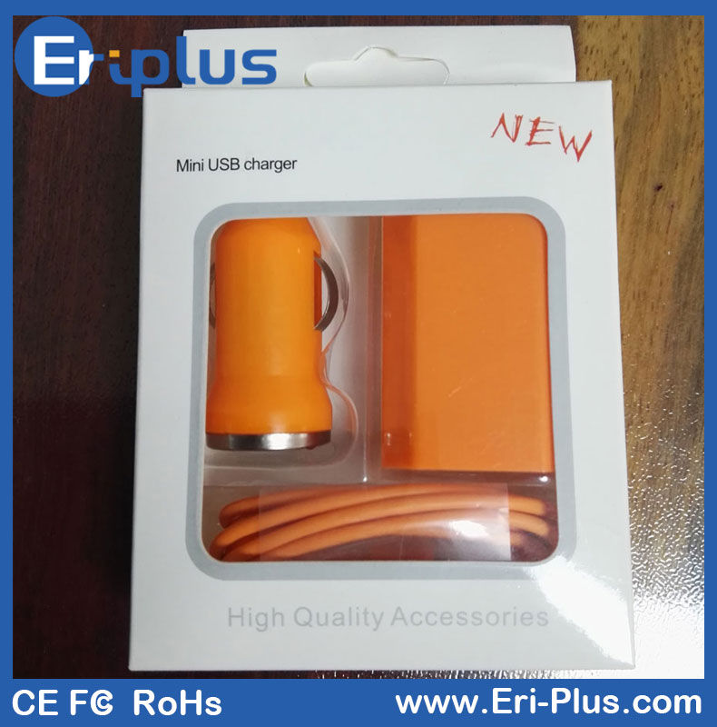 OEM Travel Charger, USB Cable And Car Charger Set