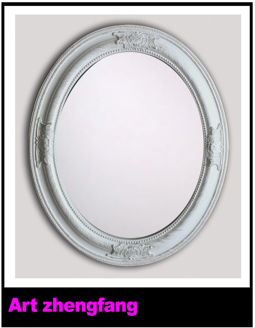 Ornate mirror frame wood frame oval mirror