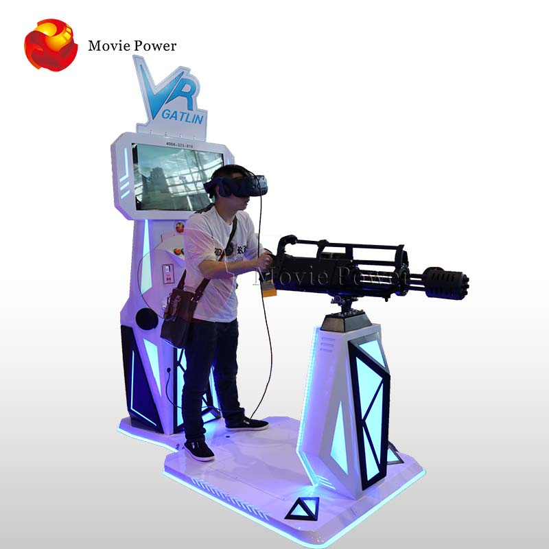 Movie Power <strong>Gun</strong> Targeting 9D Vr Walking Standing Platform Virtual Reality 360 Degree Stand Shooting Gatling <strong>Gun</strong> Simulator