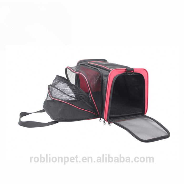 RoblionPet New Fashion China Supplier Top Quality Expandable Pet Carrier
