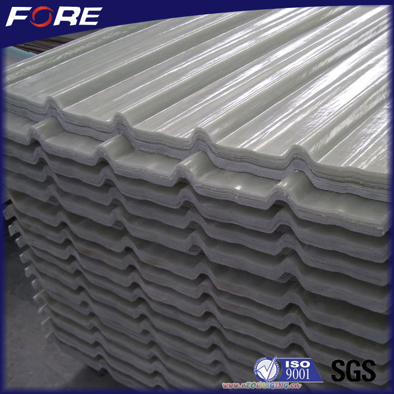 Anti-yellow 1mm - 2mm Clear Fiberglass Skylight Roof Panel