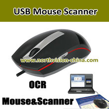 1200DPI electronic mouse scanner with USB supporting OCR software