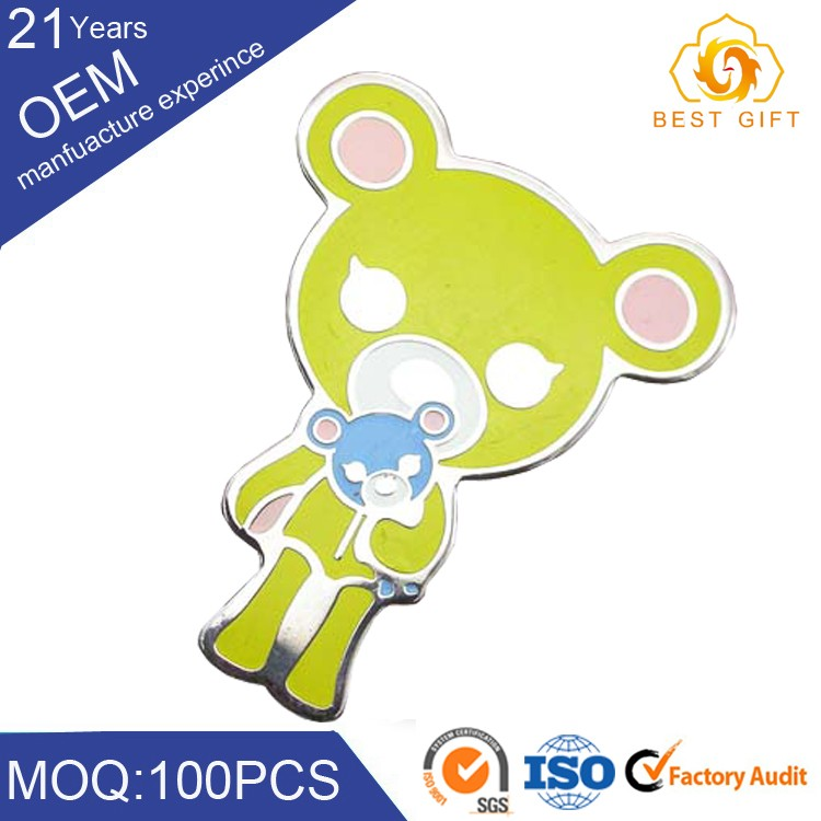Soft pvc customized modern design badge making materials