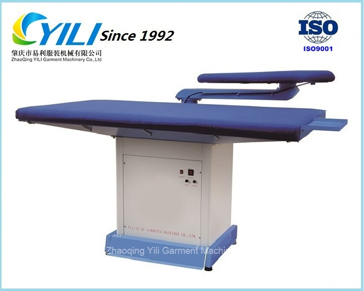 Flat vacuum ironing board with single swing arm/ Ironing table for garment,hotel & laundry