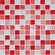 Anti-Slip Swimming Pool Bathroom Kitchen Crystal Glass Mosaic Tiles mosaic glass ball