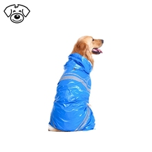 Adjustable waterproof dog raincoat pet accessory for large dog