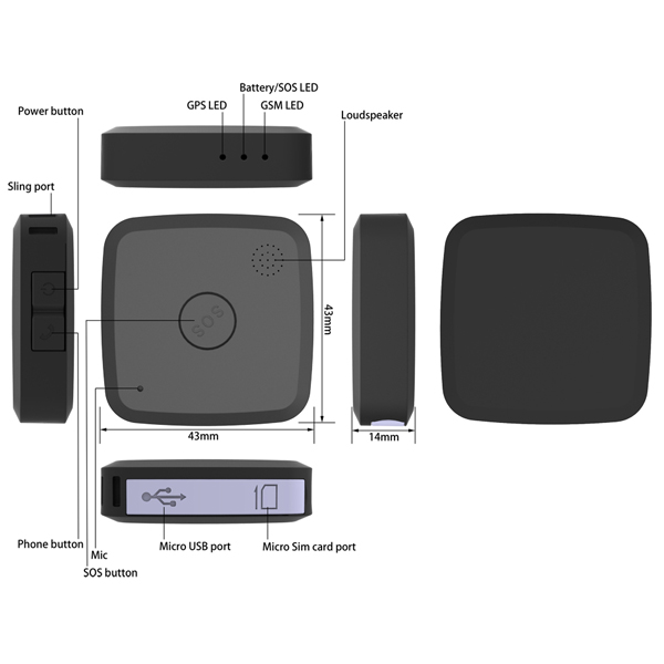Two Way Voice Message Docking Station Slim Track Gps