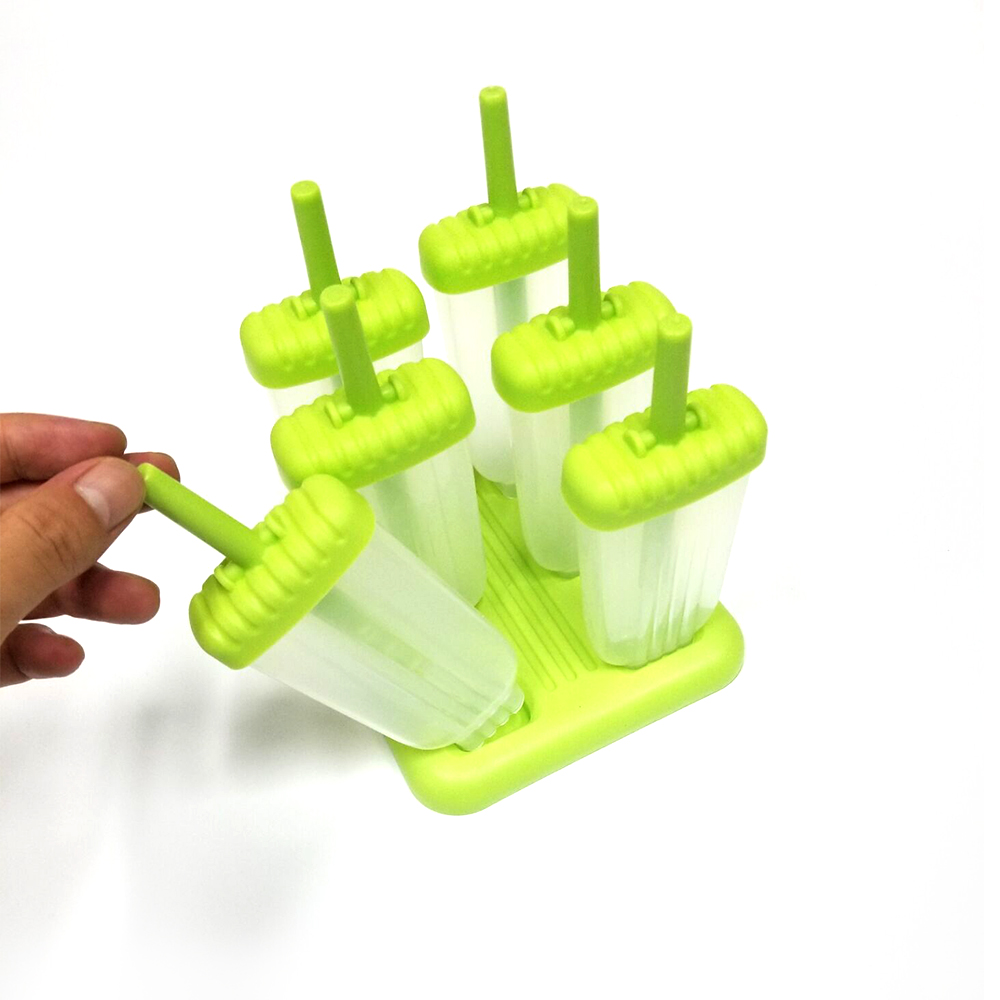 High Quality Durable 6 Pieces Silicone Popsicle Molds
