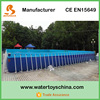 50*30*1.3m China Giant Rectangular Above Ground Swimming Pool For Water Park