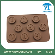 Round silicone form for chocolate/soap/candy making tool