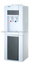 Plastic housing material standing floor water dispenser with hot and cold water