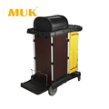MUK hotel restaurant supplies luxury cleaning cart for sale with a storage box
