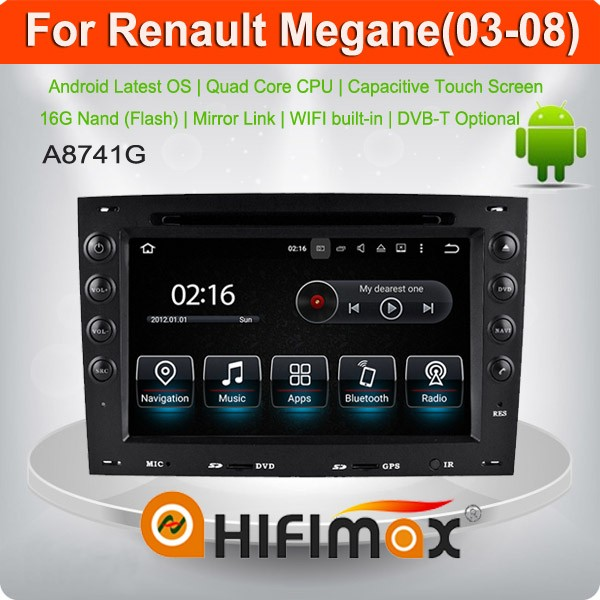 Hifimax Android 5.1 radio gps for Renault Megane 2 with 3g wifi android car dvd player for Renault Megane 2 car gps navigation