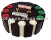 Poker Chip Set in Carousel Wooden