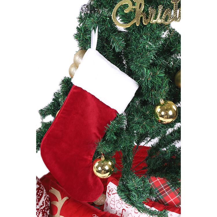 Hot Santa Felt Xmas Knitted Velvet Blank Personalized Stocking Wholesale Bulk Plain Christmas Stockings For Kids Children Buy Bulk Christmas