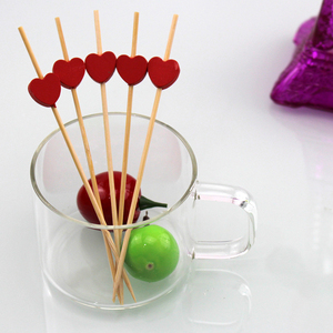Party Supplies Appetizer Bamboo Beaded Picks Swizzle Stick