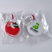 EVA key chains with red tomato shape