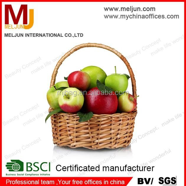 practical handled bamboo weaving basket