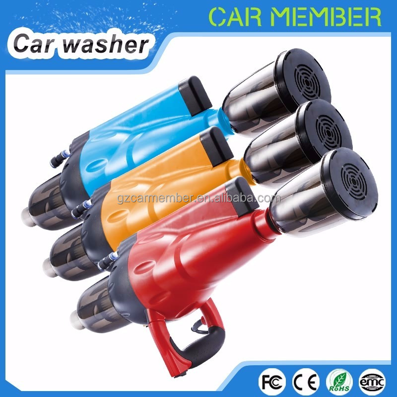 Car Member portable mini high pressure 1700w automactic foam car washing machine equip water gun dry and vaccum with best price