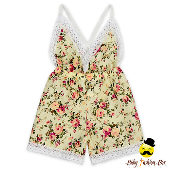 Baby clothes romper newborn printed cotton flowers baby girls minions jumpsuit