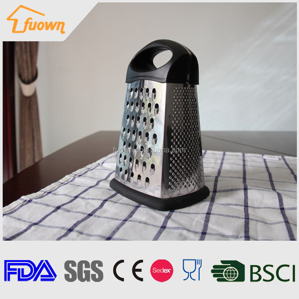 "8"" Multifunctional 4 sides stainless steel food grater"