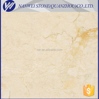 luxury design marble Polished Surface Finishing and Cream Color Crema Marfil Spain Slabs