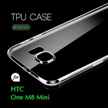 0.5mm Ultra Thin TPU Transparent Clear Protective Case for HTC One M8 Mini
