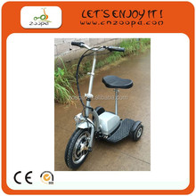 Stand up driving 3 wheel electric scooter ZP-ES20-500W,Chariot police scooter