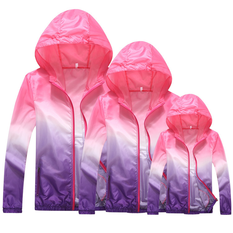 UV protection coat for kids and adult Light Thin Windbreaker Zipper UV Protection Clothing Quick-drying Loose Skin Clothing