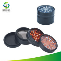"Novelty Best Selling 2.5"" 4 Piece Aluminum Herb Grinder"