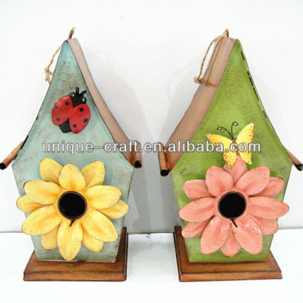 wholesale cheap metal craft chinese bird house