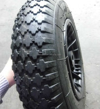 plastic rim rubber wheel 400-8