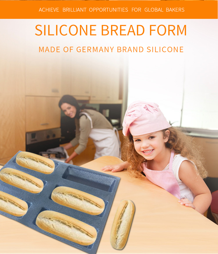 Silicone bread molds perforated bakery mold sheets for home use toaster oven bread moulds rectangle cavities