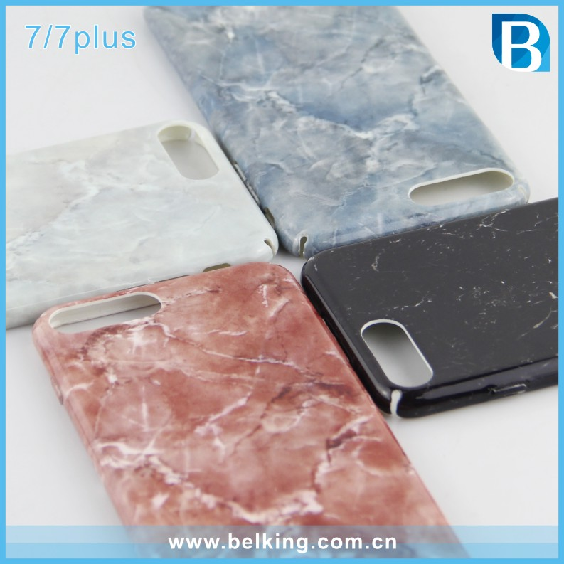 For iphone 7 marble pattern mobile accessories Plastic Hard cell phone cover case for iPhone 7 plus