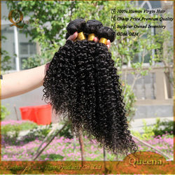 Queena hair product 8-30 inches jerry curl natural color cheap curly human hair weaving wholesale