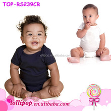 New arrival black solid cool baby plain romper organic cotton baby clothes wholesale