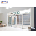 Modern house design screen doors pvc frecnh double glass entry door