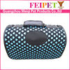 Blue Pretty Love Heart Print Plastic Dog Carrier